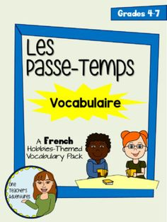 "This pack includes a vocabulary list, activities, and a quiz to introduce your ""Passe-Temps"" unit to your beginner French students.It includes:-Vocabulary list with 27 words in English and French-Create your own flash cards activity-Crossword Puzzle (with answer key)-Fill in the Blanks Puzzle (with answer key)-Match the Words Puzzle (with answer key)-Quiz (with answer key)Download the preview to see an example of all activities.Vocabulary words included are: un passe-temps, jouer, paritr…"
