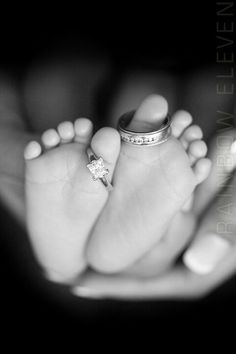 Wedding rings and baby
