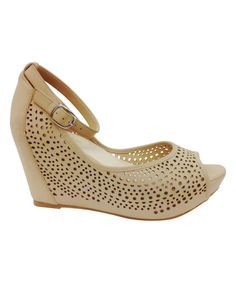 Look at this Bamboo Nude Renata Wedge on #zulily today!