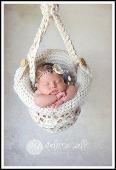 Crochet Hanging Basket Photography Prop