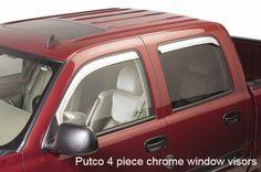 Putco 4-piece Element Chrome Window Visors fits 2002 to 2006 Chevy Avalanche