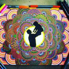 "158 Likes, 9 Comments - Zareen Taj Hidhayath (@zareensart) on Instagram: """"RELATIONSHIP""in Mandala Art!!! My love❤My friend❤My trust❤My life❤My light🌞My soul❤and what not!!U…"""