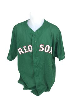 51ad22ac0550 Boston Red Sox MLB Curt Schilling Green St. Patricks Day Sewn Jersey  Majestic 2X #Majestic #BostonRedSox