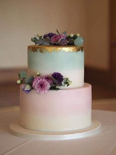 25 Pastel Wedding Cake For Spring And Summer - Hochzeitsessen - Kuchen Pastel Wedding Cakes, Pastel Cakes, Wedding Cakes With Flowers, Elegant Wedding Cakes, Wedding Cake Designs, Rustic Wedding, Fall Wedding Cakes, Simple Elegant Wedding, Wedding Cakes With Cupcakes