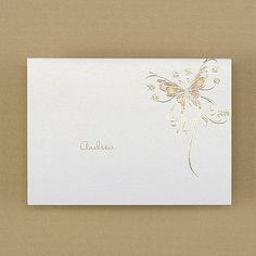 Fluttering Butterflies - Thank You Note. Available at Persnickety Invitation Studio