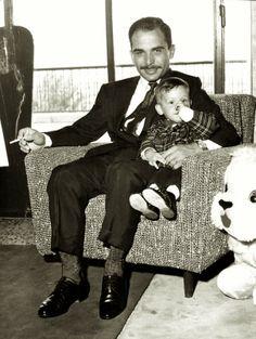 King Hussein of Jordan and son, crownprince Abdullah