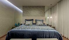 suite do casal: Quartos  por Aleggra Design & Arquitetura - Janaina Naves