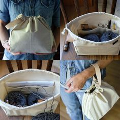 Inspiration | I love the look of this project bag! | Link: Field Bag by Fringe Supply Co.