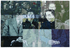 Li Songsong, Watching a Play, 2004, oil on canvas, 130 × 190 cm, © Li Songsong, private collection
