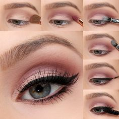 We're taking the must-have shades of the season, and transforming them into bold eye looks with our Mauve Matte Eye Tutorial! Colorful Eye Makeup This season trend, dark tinted headlights, replaced with brightly colored. Mauve Makeup, Matte Eye Makeup, Eye Makeup Steps, Smokey Eye Makeup, Daytime Eye Makeup, Soft Eye Makeup, Colorful Eye Makeup, Eye Tutorial, Eyeliner Tutorial