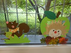výzdoba oken - podzim