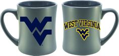 WVU West Virginia Grey Matte Mug