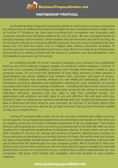 business proposal letter businessproposa on pinterest