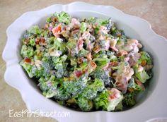 Broccoli and bacon salad - easy to make and so addictive