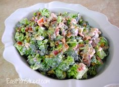 Broccoli and bacon salad - easy to make and so addictive