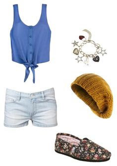 """""""outfit"""" by midnightstar121 ❤ liked on Polyvore featuring Witchery, TOMS and Lipsy"""