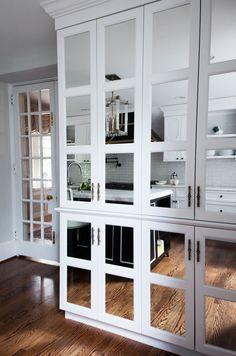 Kitchen Lessons: Stealth Glamour #HomeDecorators #Kitchen #MirrorMirror