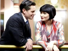 Jack and Phryne no personal space. A good article on the reasons this show is perfect.