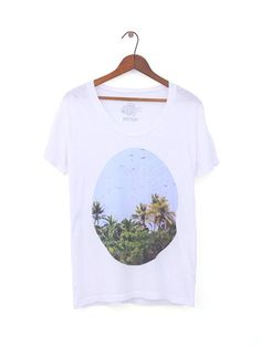 If I cannot yet make it all the way to Fiji, at least I can enjoy the scenery by proxy: Women's Paradise Tee by Kanoa Zimmerman via Mollusk Surf Shop