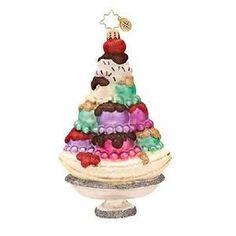 Radko SUPER SUNDAE Ice cream ornament NEW