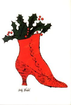 Untitled (red Boot With Holly) - Andy Warhol
