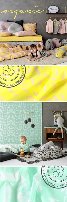 New ORGANIC fabrics. These fabrics are great for DIY projects for children! Make toys, bedding, cushions and clothing!
