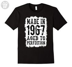 Men's 50th Birthday Gift shirt Made in 1967 Age 50 year old tshirt XL Black - Birthday shirts (*Amazon Partner-Link)