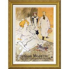 Global Gallery 'The Modern Craftsman' by Henri Toulouse-Lautrec Framed Wall Art Size: