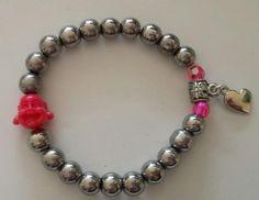 silvertone buddha bracelet door BijouByMe op Etsy