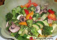 Πολύχρωμα λαχανικά στο γκρίλ σε 10΄