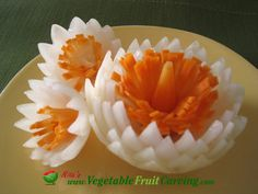 onion & carrot flower