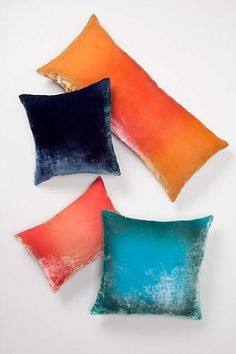Ombre Velvet Pillow - anthropologie.com #anthrofave #anthropologie