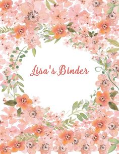 Lilly Pulitzer Fall Wallpaper Binder Cover Template With Floral Watercolor Editable