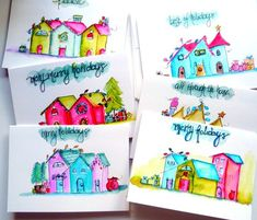 Cathy Michael's Designs - Watercolor Christmas Cards; pretty!!