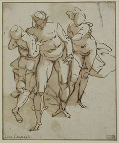1527 in Luca Cambiaso Drawings | Circle of Luca Cambiaso (1527 – 1585)