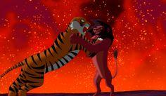 Scar VS Shere Khan by XxSilverTheHedgehog.deviantart.com on @deviantART
