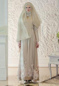 Hijab wedding dress Irna la perle