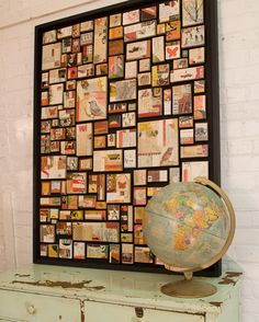 eclectic art - try small boxes or canvases arranged on a board or frame or inside a flat box
