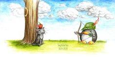 Zodiac Penguins: Sagittarius by B-Keks on DeviantArt Small Drawings, Cool Drawings, Penguin Drawing, Penguin Party, Doodle Inspiration, Winter Art, Sagittarius, Illustration Art, Art Illustrations