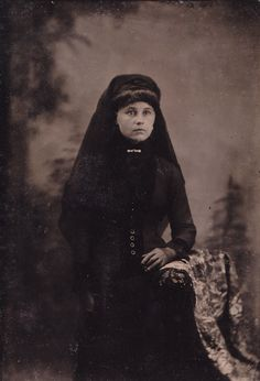 Tintype of a Woman in Mourning, Circa 1880