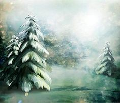 Victoriasmoon Painted White And Green Snowy Forest Backdrop/Winter Forest Backdr. Winter Forest, Snowy Forest, Winter Snow, Winter Christmas, Christmas Trees, Christmas Windows, Christmas Vinyl, Christmas Quotes, Green Christmas