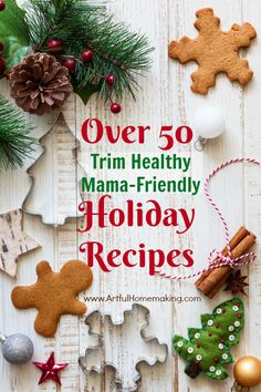 This post has over 50 Trim Healthy Mama Christmas recipes!