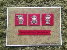 Clearly Besotted Little Elves Christmas Card by Hidden Quirks