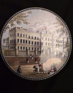Antique British Prattware Pot Jar Lid Rare Issue Buckingham Palace Great | eBay