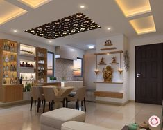 New wall-mounted Pooja ghar design for small flat