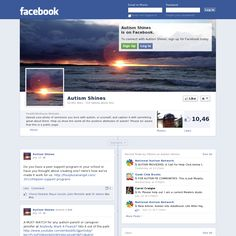 Autism Shines facebook page