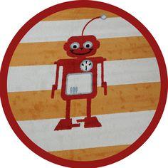 roboter rot rund