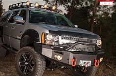 Shop Bumpers By Vehicle - Chevy Tahoe and Suburban - Fab Fours - Fab Fours CS07-H2242-1 Winch Front Bumper with Pre-Runner Chevy 1500 Tahoe ...