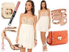 Summer club outfit look with white dress