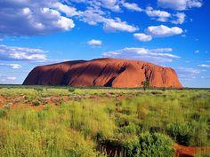 Uluru (aka Ayers Rock) in the Australian outback. Bitsy and I climbed it and felt like we were on Mars